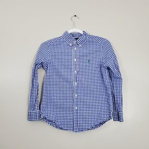 Polo Ralph Lauren Plaid Navy Long Sleeve Shirt